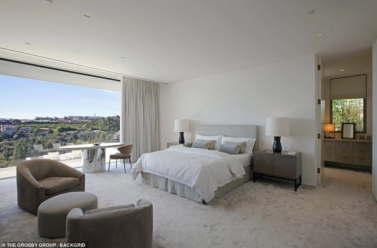 Views everywhere: The comedian's purchased the property just months after he sold his previous mansion, also located in Bel-Air, for $21.7 million