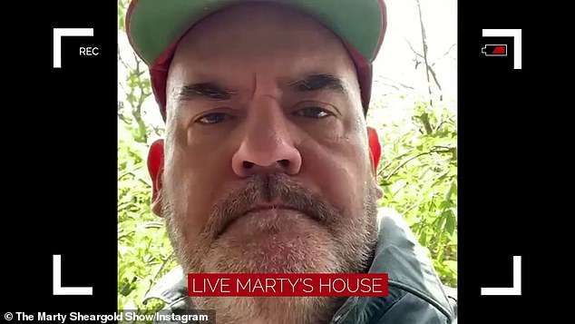 'We're in isolation': On Friday, Marty shared a video on Instagram showing him and his team working in remotely and in their respective homes in isolation. He explained that they are all waiting for the return of their Covid test results, following news of their SCA colleague