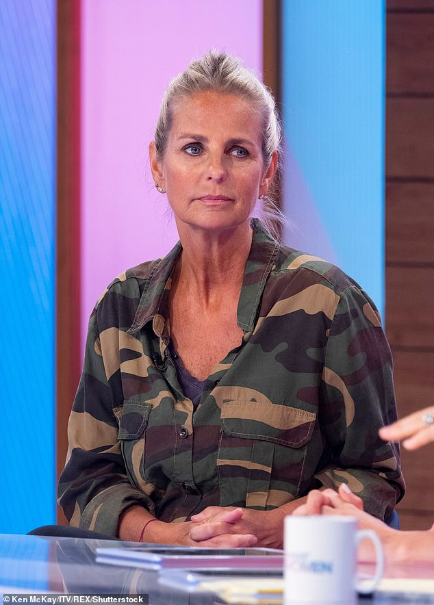 Honest remarks: Ulrika recalled how she 'faltered' during the second year of the show's recording (1993) when a camera crew member 'caught her eye' at a party towards the end of filming. While nothing eventuated, she admitted to coming home 'a much-changed wife'. Pictured on the Loose Women TV show in 2019