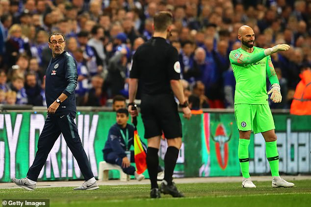Sarri was furious when Arrizabalaga refused to be substituted ahead of a penalty shootout
