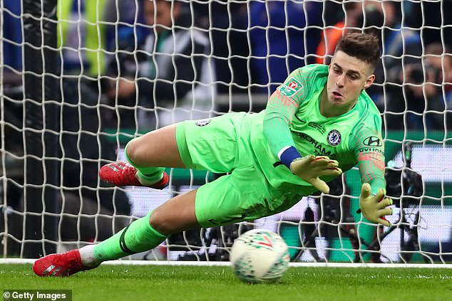 Chelsea would go on to lose the final and Arrizabalaga is now Chelsea's number two keeper