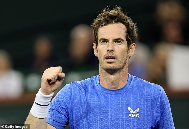 The shoes and ring must have been a good luck charm for Murray, who then went on to beat Adrian Mannarino in their first-round match at the BNP Paribas Open, winning 6-3 6-2