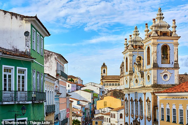 Theinteresting coastal city of Salvador, pictured above, is famed for its Portuguese colonial architecture