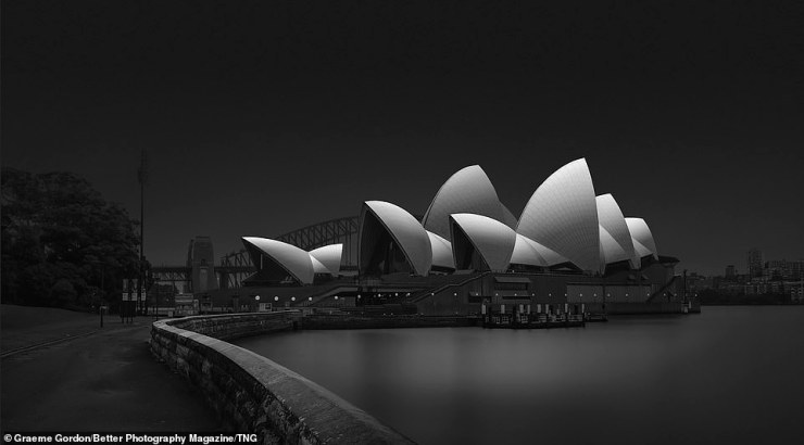 Graeme Gordon picked up Gold Award in the Classic Landscape category for this black and white capture of the Sydney Opera House