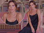 Victoria Beckham slips into a slinky black dress as she talks about her 'Cheeky Posh' blusher