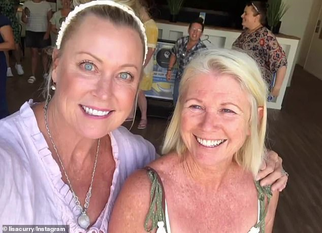 'Someone once told me that my skin looked like a crocodile handbag! Harsh, but true,' she wrote in her column for Body+Soul magazine on Saturday. Pictured with a friend