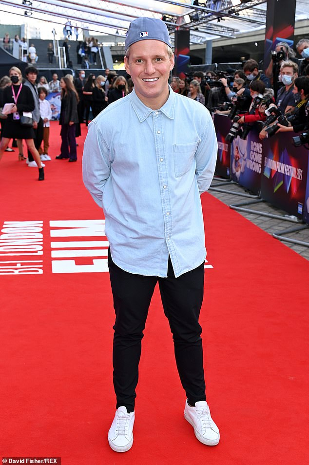 Cool Dude: Former Made In Chelsea star Jamie Ling also took fashion points from Jack as he also wore a denim shirt to the screening