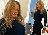 Carol Vorderman shows off her svelte waist and curves as she heads to her Welsh radio show