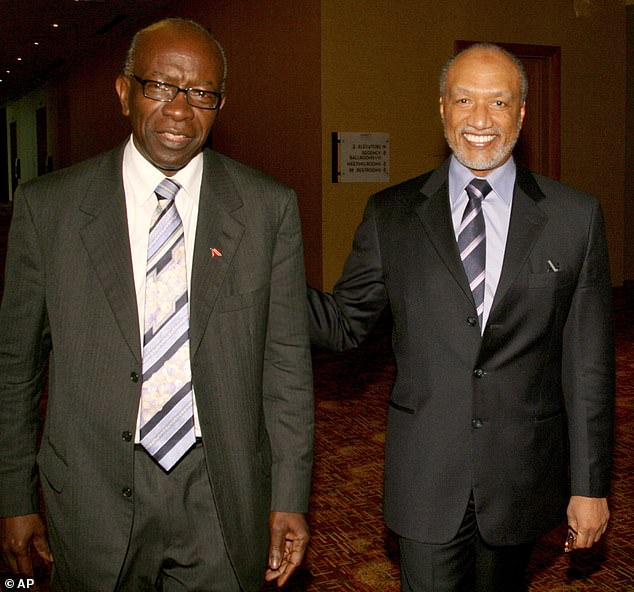 Jack Warner (L), a notorious criminal from Trinidad, was subject of bribe attempts from a number of hosting hopefuls including England and Australia