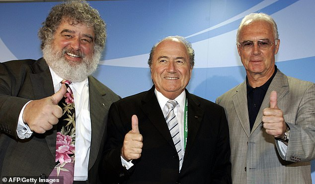 The former partner of Chuck Blazer (L) has lifted the lid on the lifestyle of the former FIFA chief