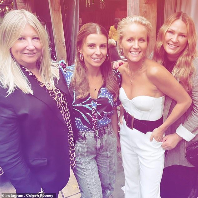 Wow!Coleen Rooney channelled sartorial chic as she headed out with her gal pals to celebrate the launch of Hollyoaks' star Davinia Taylor's new boo