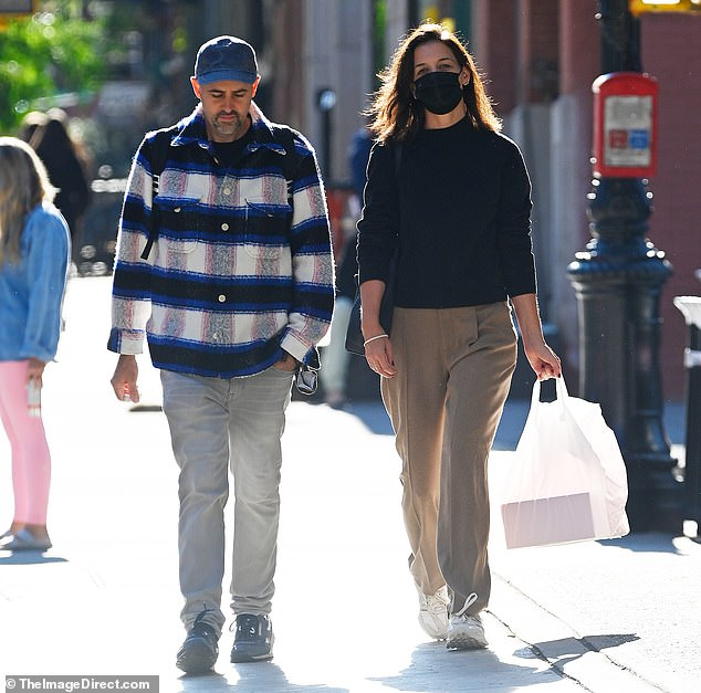 Dressed down:The 42-year-old Dawson's Creek star cut a casual figure as she and her pal walked down the sidewalk in New York City