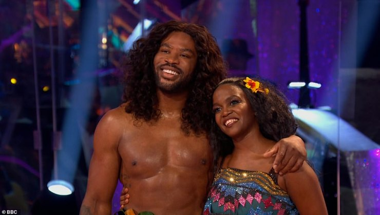 Wow:Next up were rugby player Ugo Monye and his partner Oti who danced their couple's choice routine to the sound track from the film Moana. They scored an impressive 31