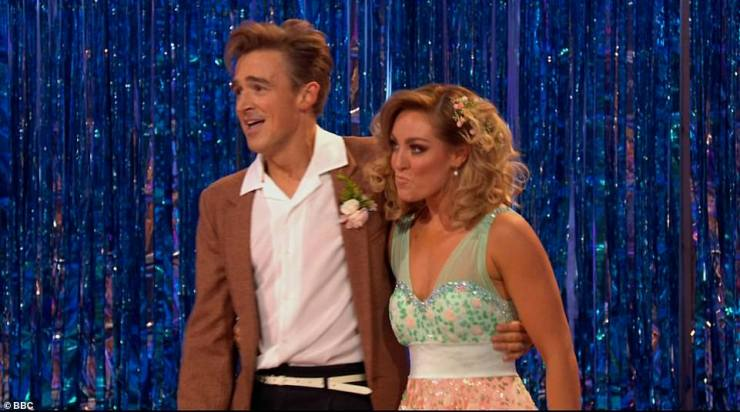 Success:The judges awarded the dance an impressive score of 32, with each of them giving the pair an eight