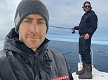 Jake Gyllenhaal looks every bit the hunky fisherman while joking about the origin of boating skills