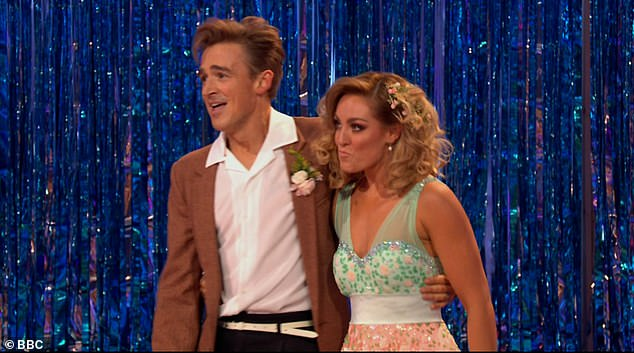 They're back! Tom and his partner Amy returned to the dance floor on Saturday night for the Strictly Come Dancing Movie Week special after missing last week's show following their positive Covid tests