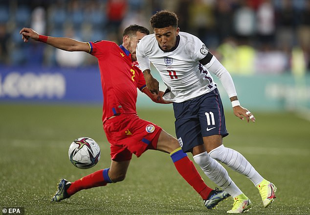 Jadon Sancho was a particular target as the hosts tried to rough-up the Three Lions stars