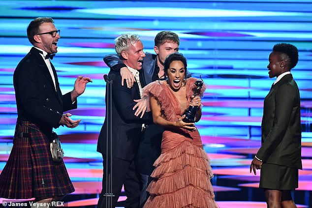 Replacement:It Takes Two host Janette Manrara was sent to pick up their award for Best Talent Show at the NTAs after none of the dancers attended due to be in isolation ahead of the series