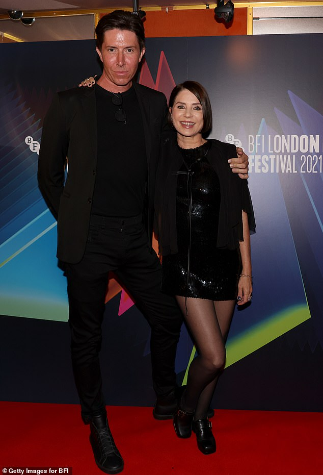 Dapper: Producer Ben Charles looked smart in black suit