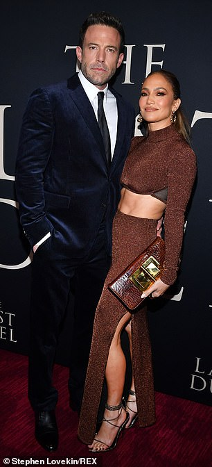 On the scene: Jennifer Lopez was also at the star-studded premiere to support her on-again beau