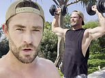 Chris Hemsworth hits the weights after admitting he feels 'a bit dusty'