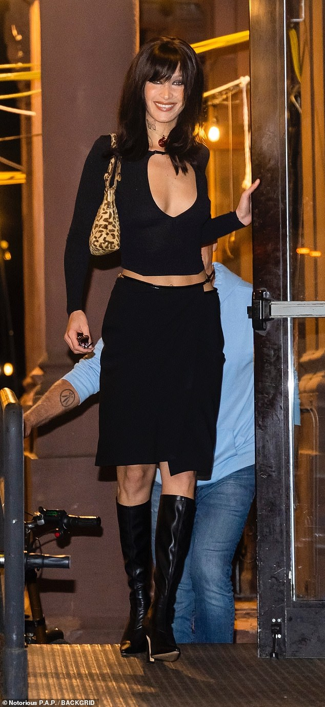 Birthday girl! Bella Hadid celebrated her 25th birthday in style with her sister, brother, and close friends in new York City on Saturday