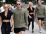 Michael Clarke and Pip Edwards enjoy a romantic stroll in Sydney