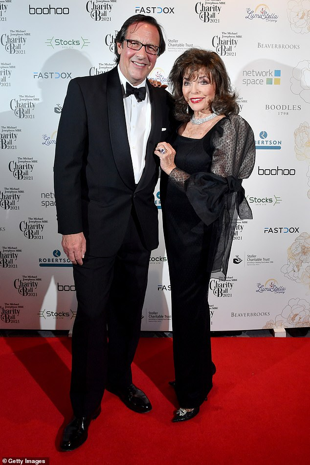 Joan, 88, told The Sunday Times that marrying a man who has matched her in years would be a nightmare.  Her husband Percy Gibson, 56, is 32 years younger than her.  Pictured: The couple at the Michael Josephson MBE Charity Ball this weekend