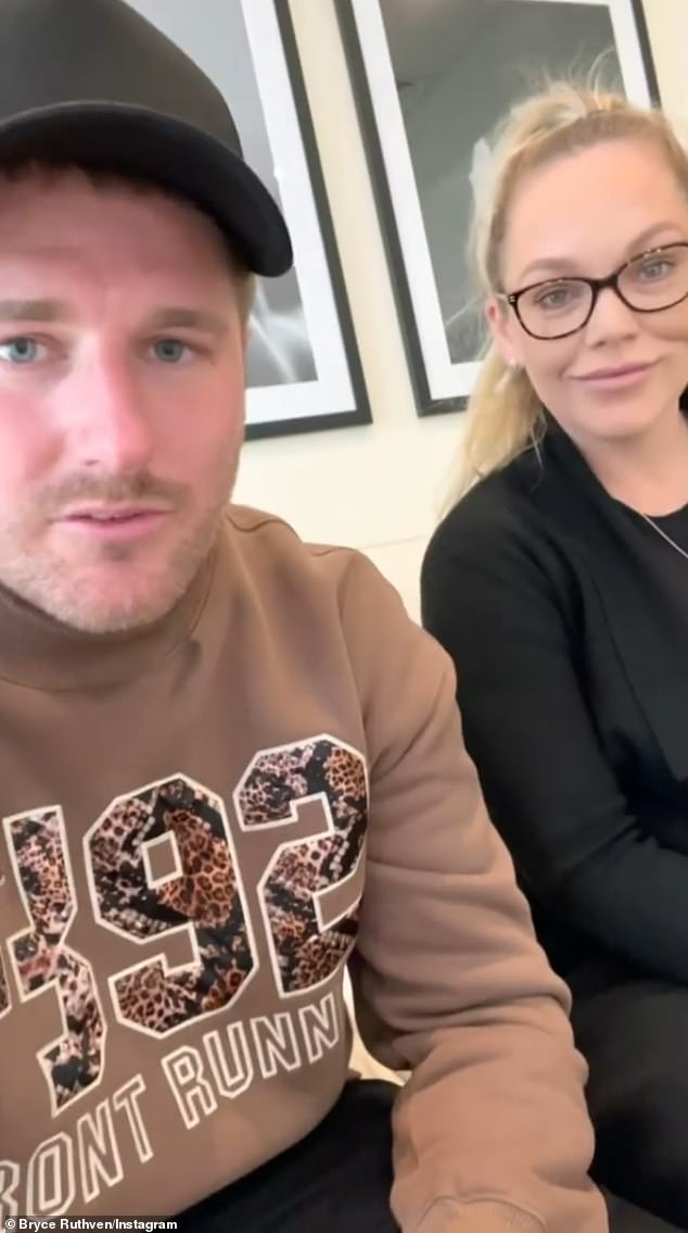 'Meet our two little boys!' Married At First Sight's Melissa Rawson, 32, and Bryce Ruthven, 31, shared a video scan of their twin sons at 28 weeks pregnant on Sunday