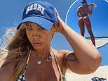Tammy Hembrow strips down to a G-string bikini for a sizzling beach photo shoot