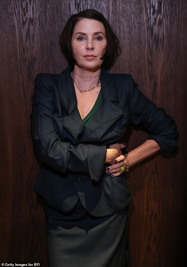 Looking good: Sadie Frost, 56, nailed sartorial chic as she attended the Filmmaker Teas at the BFI London Film Festival on Sunday