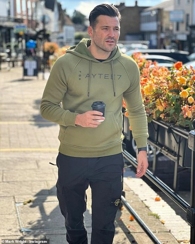 Candid: Mark Wright has shared a candid Instagram post to mark World Mental Health Day, as he warned his fans that he is 'not as happy as he seems on social media'.