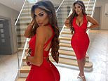 Chloe Ferry sets pulses racing as she slips into a skintight red bodycon dress