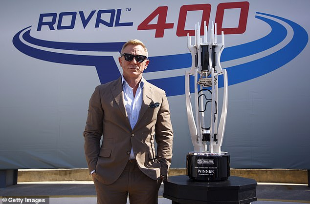 Wow! The contest's impressive trophy towered over the star