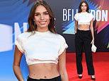 Brooklyn Beckham's ex Hana Cross flaunts her toned abs in a white crop top