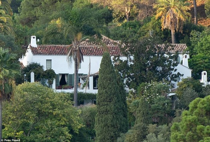 Boris Johnson and his pregnant wife Carrie are taking a foreign break at a £25,000-a-week Marbella hideaway owned by the Prime Minister's wife's close friend and Tory peer Zac Goldsmith