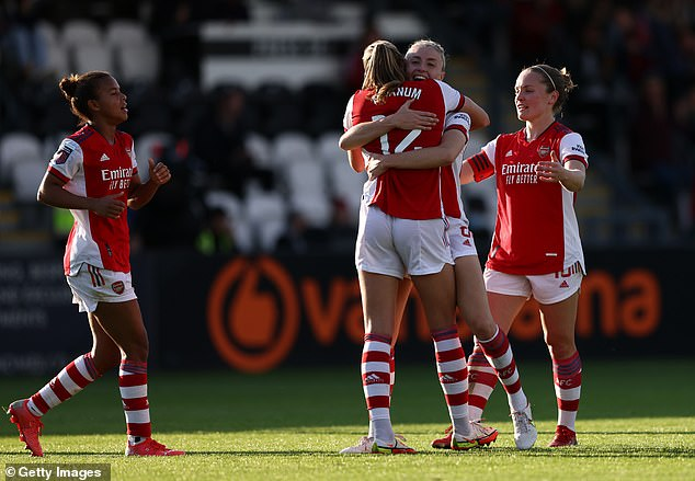Arsenal have kept their control atop the WSL by beating Everton 3-0, onto five wins in a row