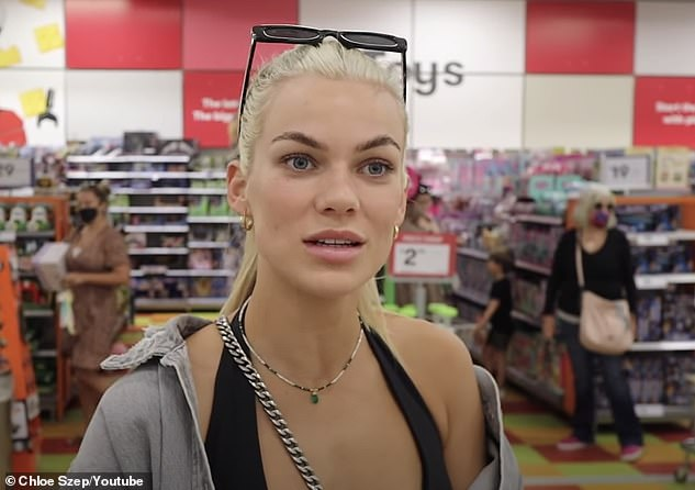 'Reckless': It comes after Chloe was slammed for not wearing a face mask while she was out shopping in August (pictured).At the time, the Gold Coast was subject to restrictions which included wearing a mask at all times unless you can stay 1.5m away from others