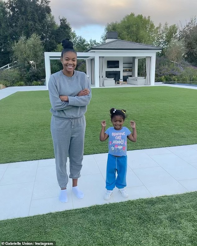 Pride and joy: Kaavia is the only daughter Gabrielle shares with NBA husband of seven years, Dwyane Wade