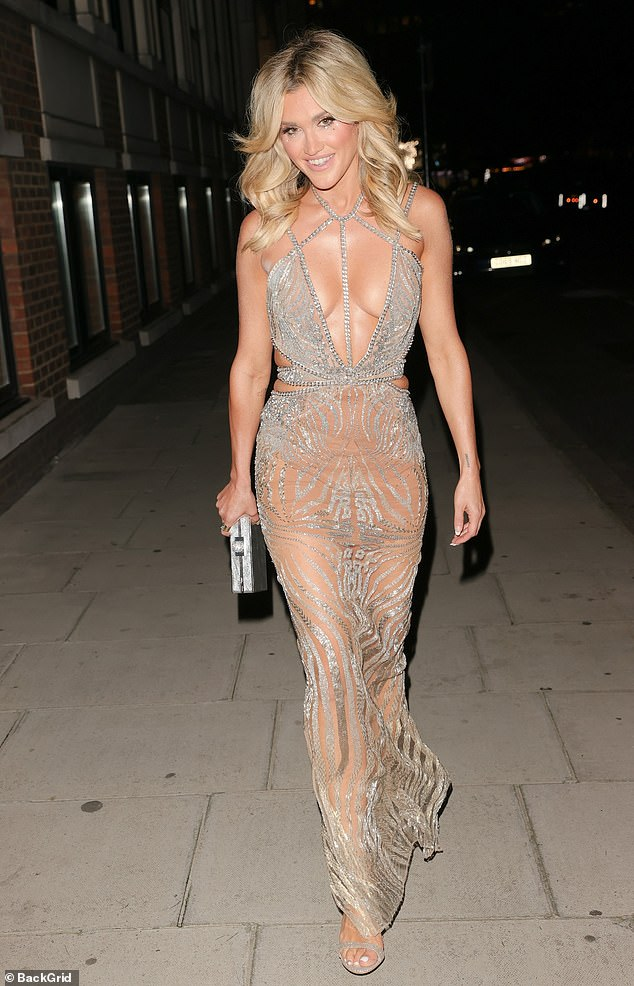 Wow!Ashley Roberts left little to the imagination as she made her way to The Langham Hotel in London to celebrate her 40th birthday with a star-studded party