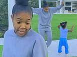 Gabrielle Union and daughter Kaavia bust out their best moves during backyard dance party