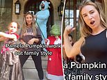 Jessie James Decker and her family don costumes for Halloween-themed workout at their Nashville home