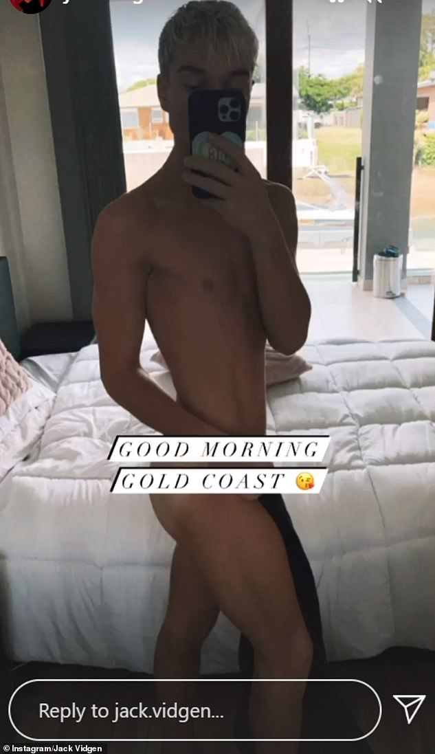 Morning glory:The singer is certainly no stranger to showcasing his body in racy photos. He left little to the imagination back in March this year