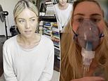 Sam Frost: Woman on a nebuliser reacts to star's Covid-19 misinformation