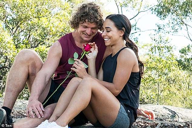 Fears: Speaking to TV Week on Monday, Brooke admitted she was 'scared' to return to the dating show. 'The last two times, I didn't come out of this how I would have liked to,' she said. Pictured with Nick 'The Honey Badger' Cummins on the 2018 season of The Bachelor
