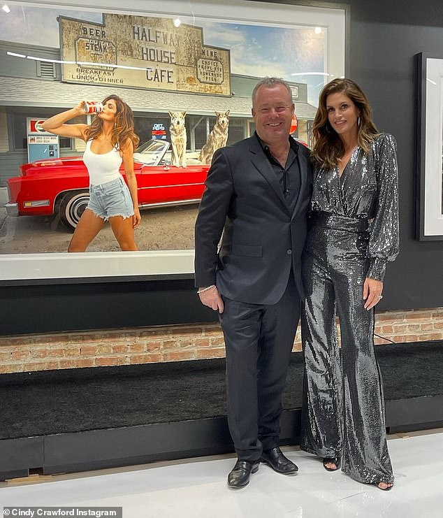 Sequin flash: Crawford also thanked her old friend and collaborator, David Yarrow