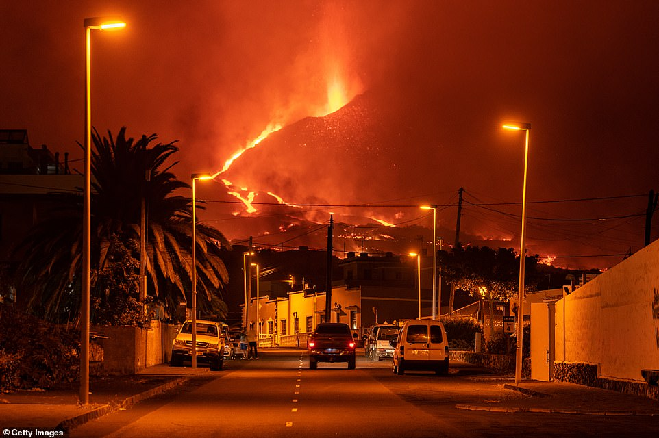 The lava flow, with temperatures of up to 2,264 degrees Fahrenheit (1,240 degrees Celsius), destroyed the last few buildings that remained standing in the village of Todoque, the Canary Islands Volcanology Institute said on Twitter
