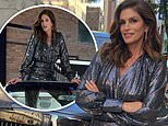 Cindy Crawford stuns in sequin jumpsuit during charity drive for family children's hospital