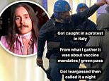 Jared Leto reveals he was TEAR GASSED in Italy while attending an vaccine protest in Italy