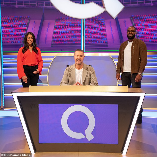 Team player: Sam is the team captain at the question of the game with rugby player Yugo Mooney while Paddy McGuinness serves as host